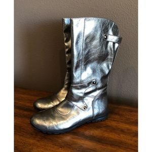 NWOT Nordstrom Silver Metallic Boots- Sz 5